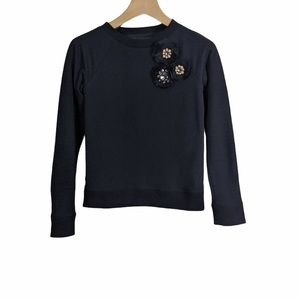 Needle & Thread Corsage Crew Rhinestone Sweatshirt